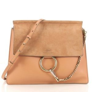 Chloe Medium Faye Bag in Dusty Beige